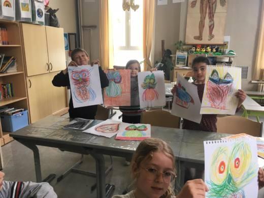 Kunstatelier op SJC Visitatie op donderdagavond